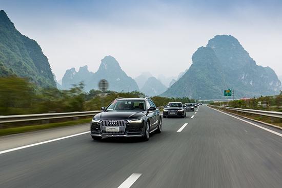 3. 驰骋于中越边境高速上的奥迪旅行车展现出强大的产品实力